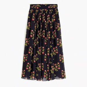 JCrew Point Sur Floral Maxi Skirt NWT 6 Navy Multi